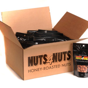 Honey Roasted Peanuts 4oz party pack