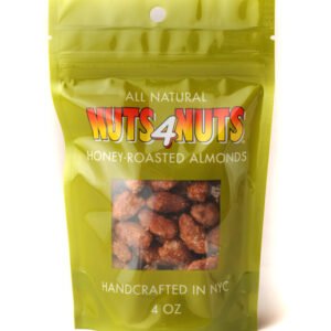 Honey-Roasted Almonds in 4oz resealable pack