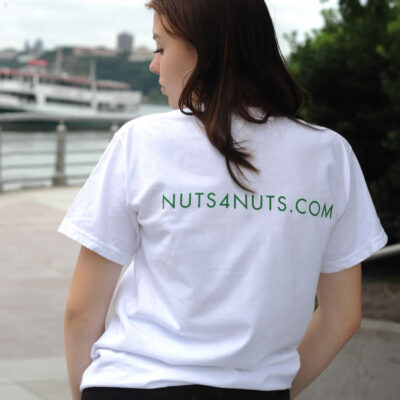 Nuts 4 The Earth White T-Sleeve 100% Cotton