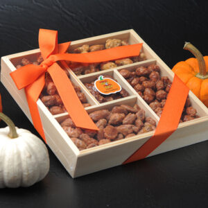 5-Compartment Wood Halloween <br>Gift Box